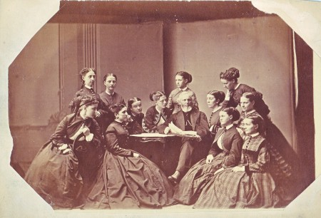 The class of 1868, Jacksonville Female Academy.  Khalaf Al Habtoor Archives at Illinois College.