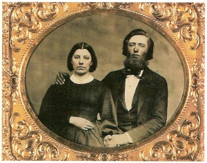 "Caroline and Charles Ingalls at the time of their marriage in 1860. ""Ma"" may not have fully recognized the character in her daughter's books."