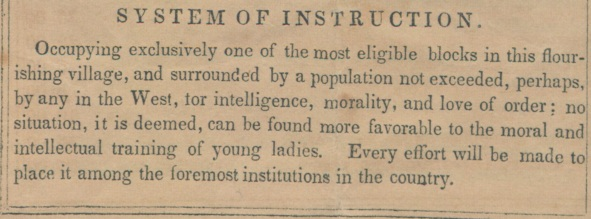 JFA Catalog 1858 - System of Instruction