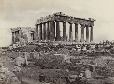 The Parthenon from the east, 1860, by Francis Frith. From the Museum of Modern Art: http://www.moma.org/collection/works/55672
